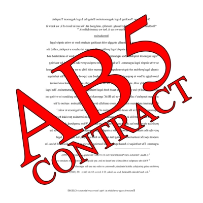 Picture of CA AB5 CONTRACT